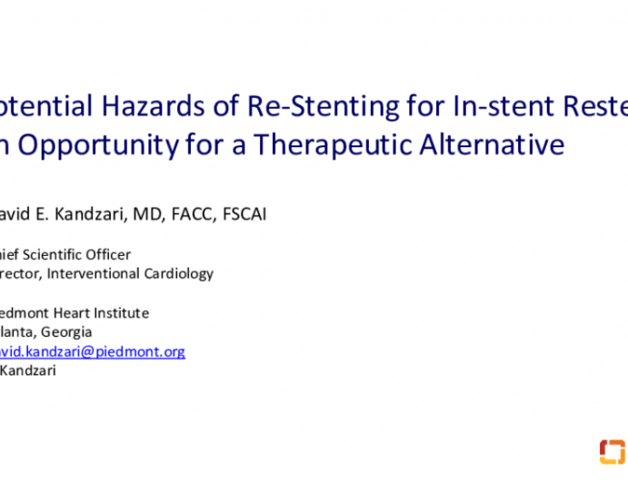 The Challenges and Hazards of Re-Intervention and Stenting