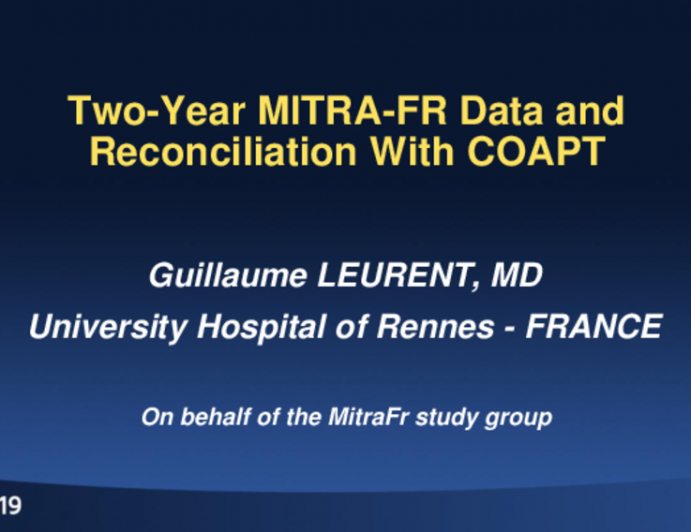 FMR: Two-Year MITRA-FR Data and Reconciliation With COAPT