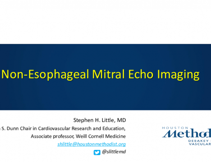 Nonesophageal Mitral Echo Imaging