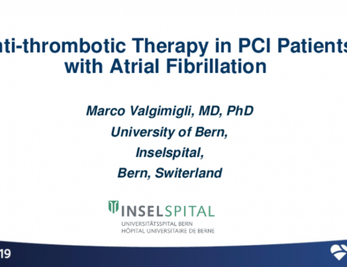 Antithrombotic Therapy in PCI Patients With Atrial Fibrillation