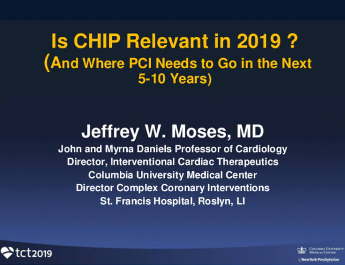 Opening Salvo: Is CHIP Relevant, and Where PCI Needs to Go in the Next 5-10 Years
