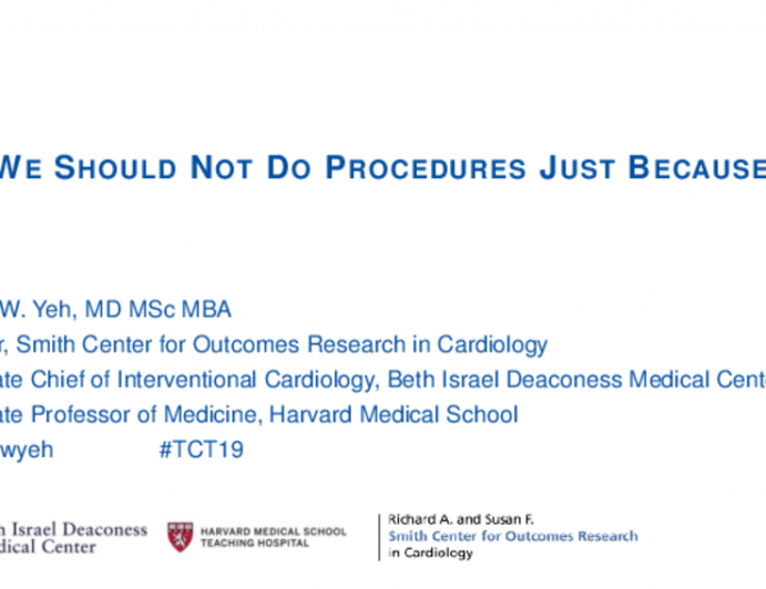 Debate 2: Should CTO PCI Be Performed in Most Patients With Multivessel Disease? - No, We Should Not Do Procedures Just Because We Can: Show Me the Data!