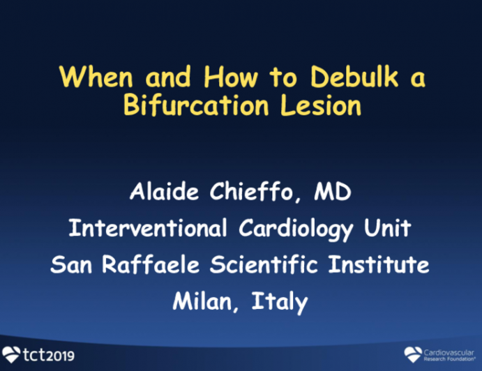 When and How to Debulk Bifurcation Lesion?