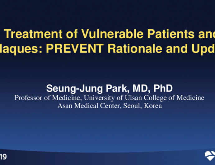 Treatment of Vulnerable Patients and Plaques: PREVENT Rationale and Update