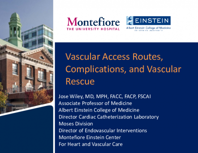 Vascular Access Routes, Complications, and Vascular Rescue