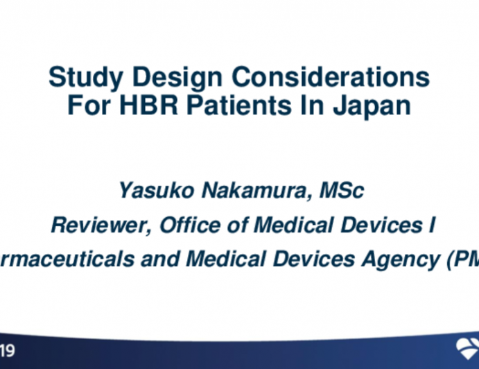 Study Design Considerations for HBR Patients in Japan