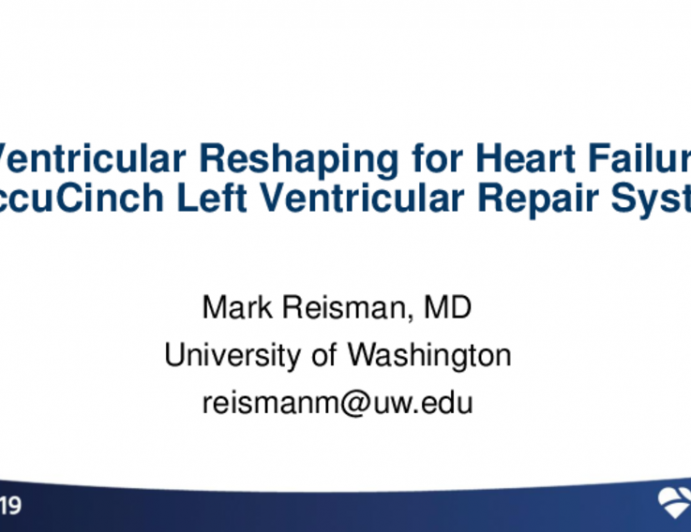Ventricular Reshaping for HF: ANCORA