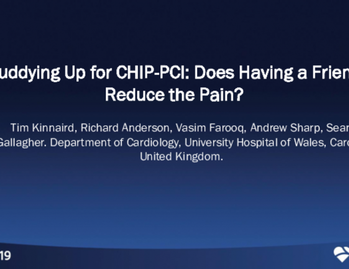 TCT 66: Buddying Up for CHIP-PCI: Does Having a Friend Reduce the Pain?
