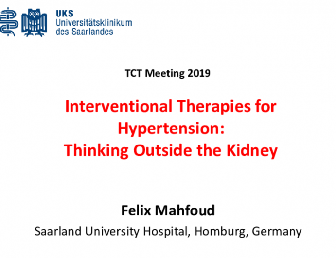 Interventional Therapies for Hypertension: Thinking Outside the Kidney