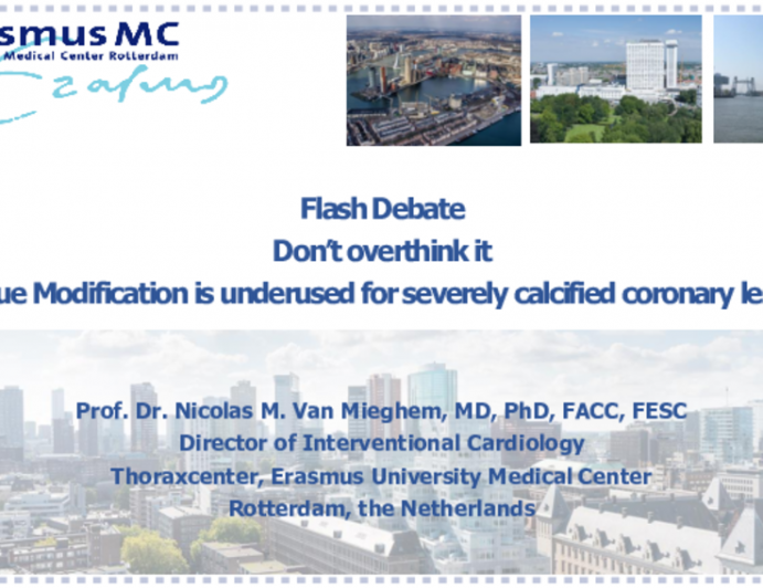 Flash Debate 2: Don't Overthink It — Plaque Modification Is Underused for Severely Calcified Coronary Lesions!