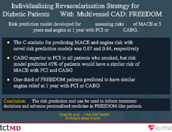 Individualizing Revascularization Strategy for Diabetic Patients With Multivessel CAD: FREEDOM