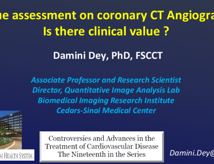 Plaque assessment on coronary CT Angiography: Is there clinical value ?