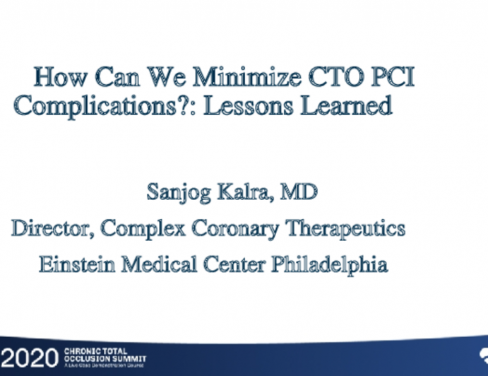 How Can We Minimize CTO PCI Complications?: Lessons Learned