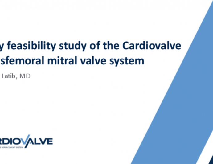 Early feasibility study of the Cardiovalve transfemoral mitral valve system