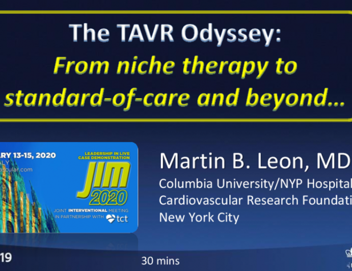 The TAVR Odyssey: From niche therapy to standard-of-care and beyond…