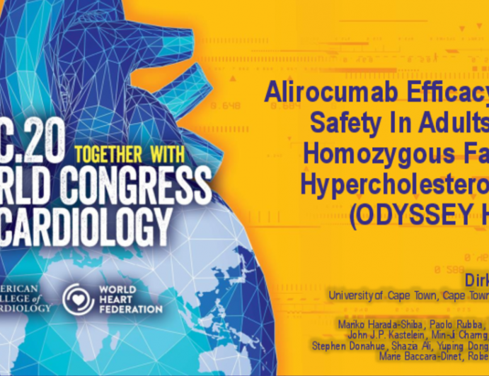 Alirocumab Efficacy And Safety In Adults With Homozygous Familial Hypercholesterolemia (ODYSSEY HoFH)