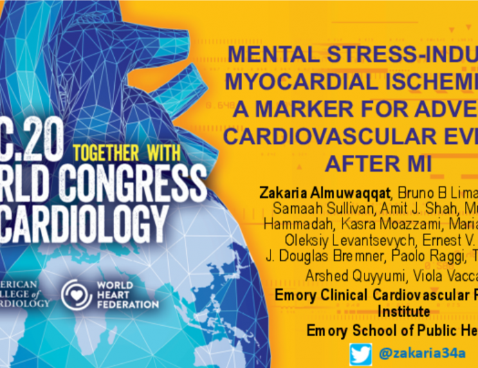 Mental Stress-Induced Myocardial Ischemia as a Marker for Adverse Cardiovascular Events After MI