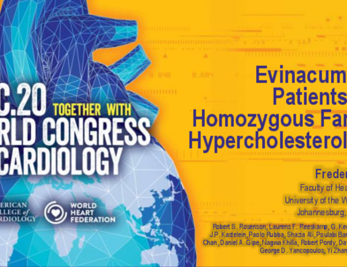 Evinacumab in Patients with Homozygous Familial Hypercholesterolemia