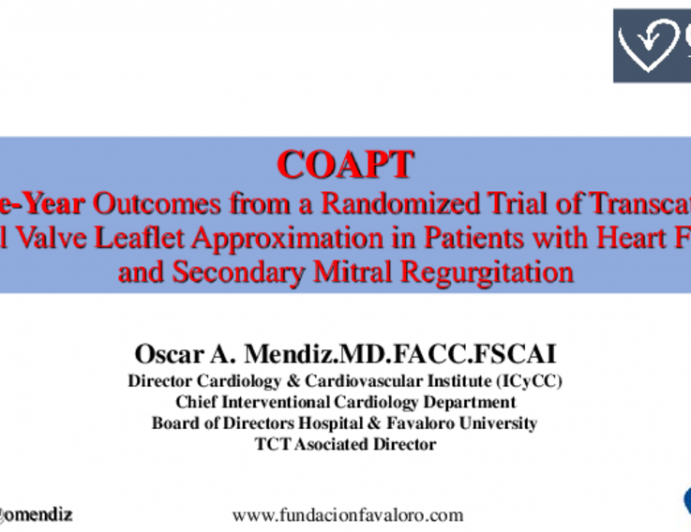 COAPT Three-Year Outcomes from a Randomized Trial of Transcatheter Mitral Valve Leaflet Approximation in Patients with Heart Failure and Secondary Mitral Regurgitation