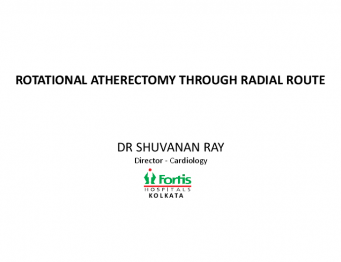 Role of Atherectomy Through Radial Route