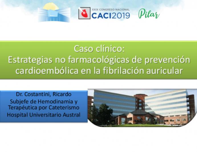 Caso clínico: Estrategias no farmacológicas de prevención cardioembólica en la fibrilación auricular