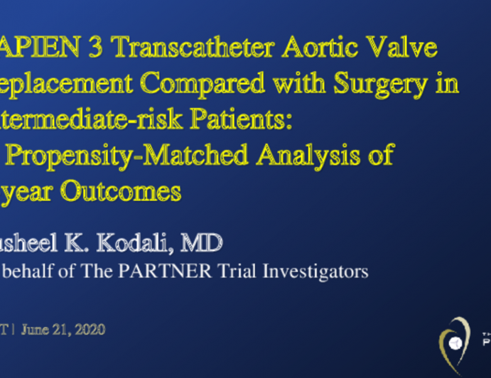 SAPIEN 3 Transcatheter Aortic Valve Replacement Compared with Surgery in Intermediate-risk Patients: A Propensity-Matched Analysis of 5-year Outcomes