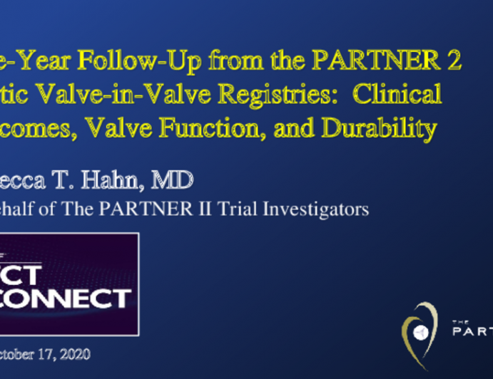 Five-Year Follow-Up from the PARTNER 2 Aortic Valve-in-Valve Registries:  Clinical Outcomes, Valve Function, and Durability