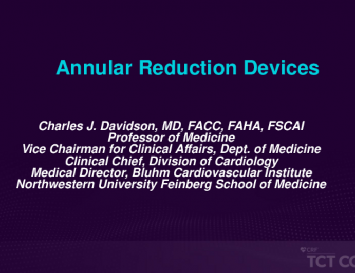 Update on Tricuspid Transcatheter Technologies - Annular Reduction Devices