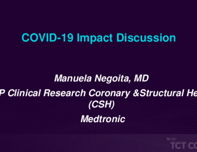 COVID-19 IMPACT VIEWS From the … - Industry Sponsors (Supporting Innovation and Medical Device Approval)