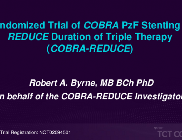 COBRA-REDUCE: A Randomized Trial of a Thromboresistant Polyzene F-Coated Stent With 14 Days DAPT in High-Bleeding Risk Patients