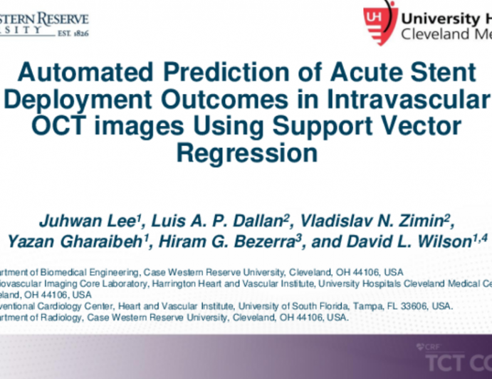 TCT 412: Automated Prediction of Acute Stent Deployment Outcomes in Intravascular OCT Images Using Support Vector Regression