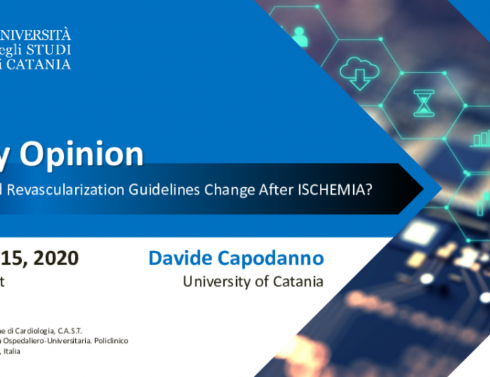 In My Opinion: How Should Revascularization Guidelines Change After ISCHEMIA?
