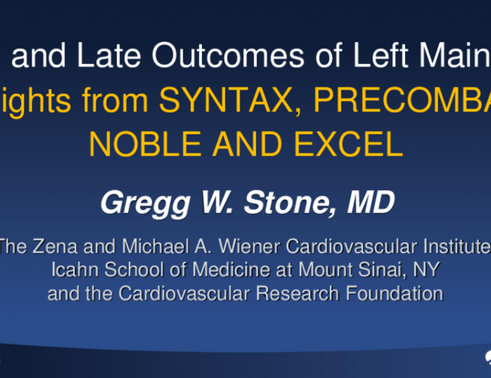 Early and Late Outcomes of Left Main PCI: Insights From SYNTAX, PRECOMBAT, NOBLE, and EXCEL