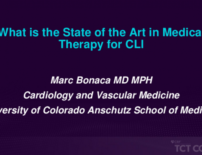 What Is the State of the Art in Medical Therapy for Critical Limb Ischemia?