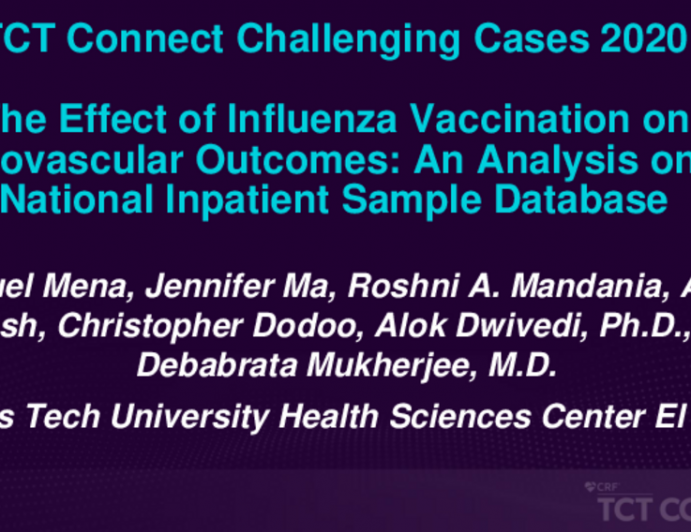 TCT 212: The Effect of Influenza Vaccination on Cardiovascular Outcomes: An Analysis on the National Inpatient Sample Database