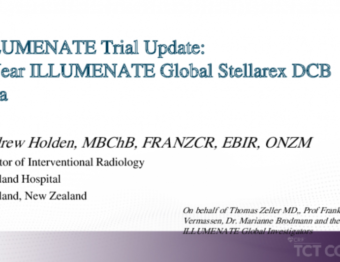 ILLUMENATE Trial Update:4-Year ILLUMENATE Global Stellarex DCB Data