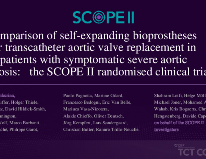 Comparison of self-expanding bioprostheses for transcatheter aortic valve replacement in patients with symptomatic severe aortic stenosis: the SCOPE II randomised clinical trial