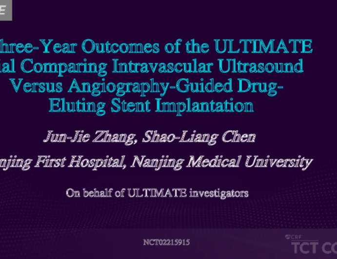 Three-Year Outcomes of the ULTIMATE Trial Comparing Intravascular Ultrasound Versus Angiography-Guided Drug-Eluting Stent Implantation