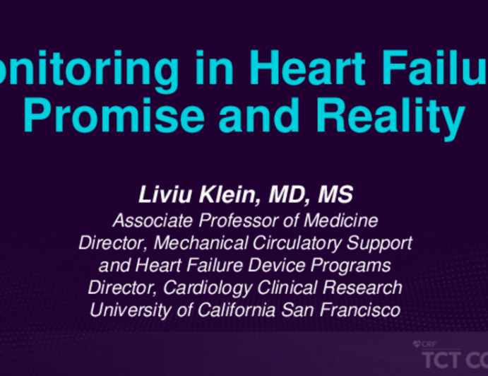 Monitoring in Heart Failure: Promise and Reality
