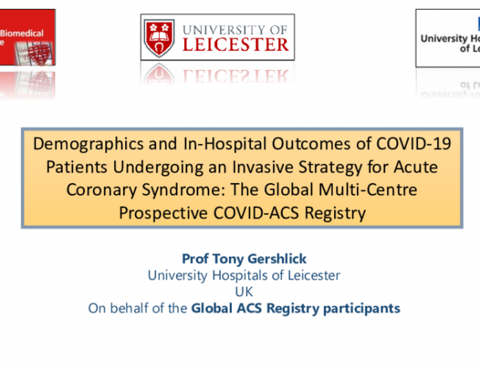 Demographics and In-hospital Outcomes of COVID-19 Patients Undergoing an Invasive Strategy for Acute Coronary Syndrome: The Global Multi-Centre Prospective COVID-ACS Registry