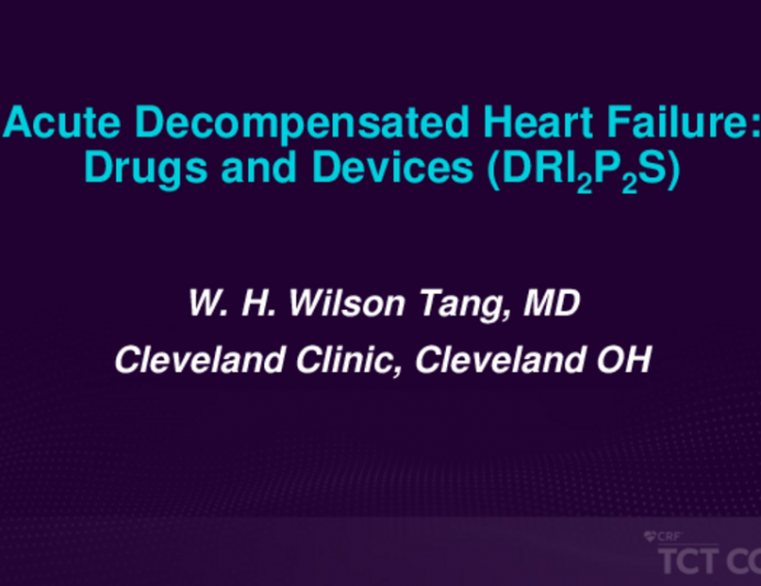 Acute Decompensated Heart Failure: Drugs and Devices (DRIIPPS)