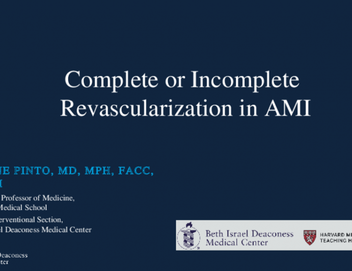 Complete or Incomplete Revascularization in AMI