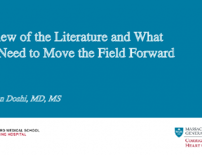 Review of the Literature and What We Need to Move the Field Forward