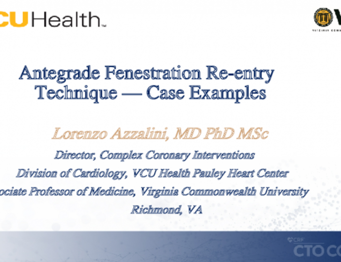 Antegrade Fenestration Re-entry Technique — Case Examples