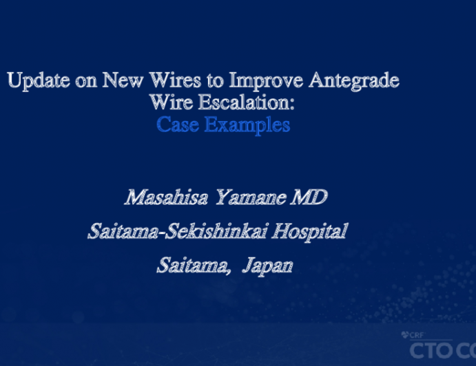 Update on New Wires to Improve Antegrade Wire Escalation: