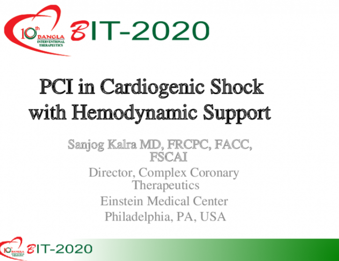 PCI in Cardiogenic Shock with Hemodynamic Support