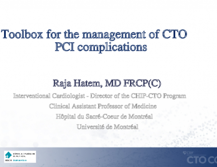 Toolbox for the management of CTO PCI complications