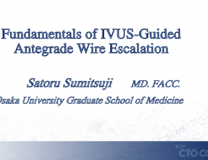 Fundamentals of IVUS-Guided Antegrade Wire Escalation