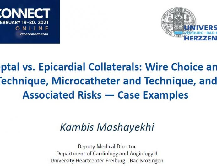 Septal vs. Epicardial Collaterals: Wire Choice and Technique, Microcatheter and Technique, and Associated Risks — Case Examples