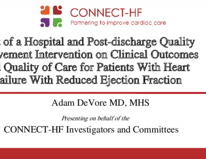 Effect of a Hospital and Post-discharge Quality Improvement Intervention on Clinical Outcomes and Quality of Care for Patients With Heart Failure With Reduced Ejection Fraction